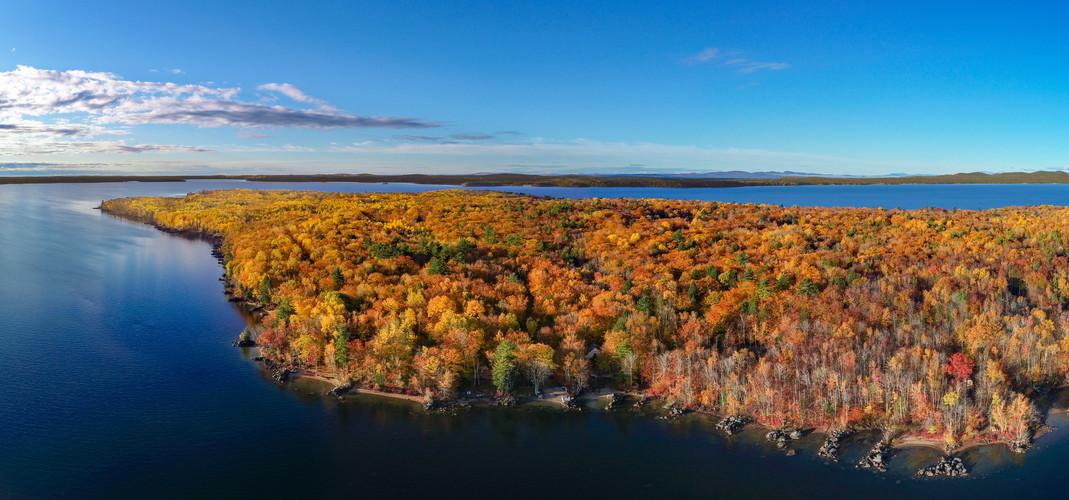 Frye Island in the fall
