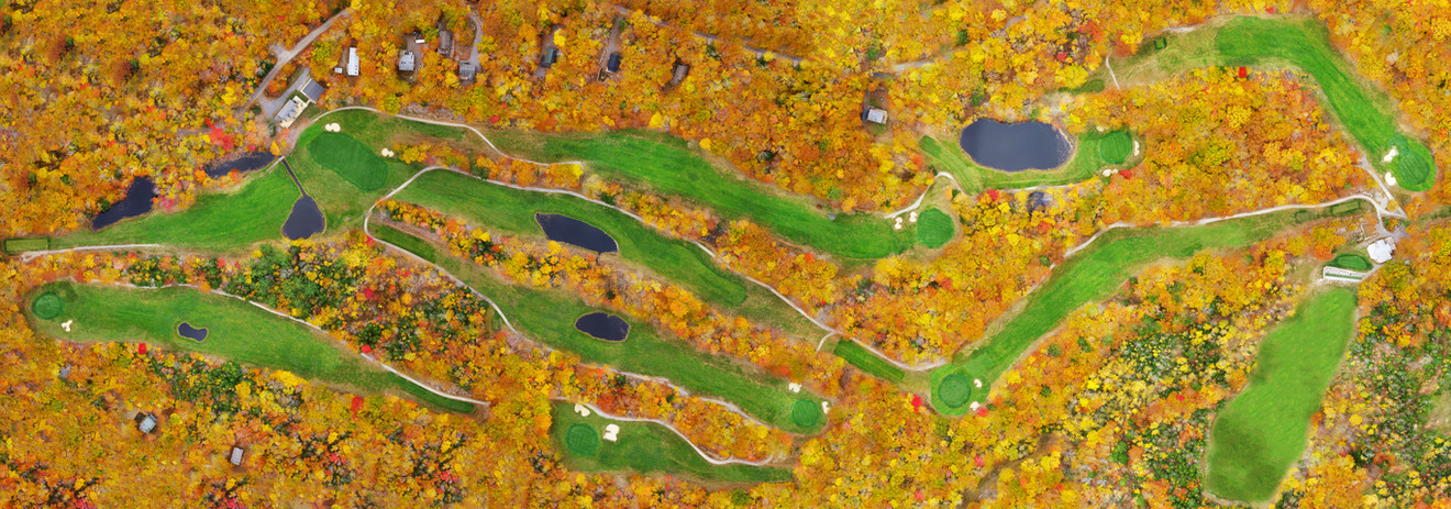Frye Island Golf Course in the fall