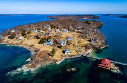 Little Diamond Island in the winter