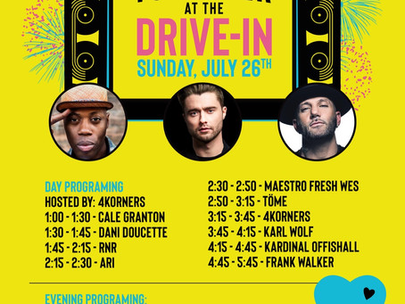 DRIVE-IN CONCERT SET TIMES ANNOUNCED!