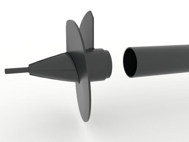 Сборка наконечника и трубы