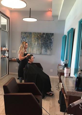 Salon treatment by Tyler Freeman