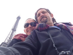 Kate and Dave in Paris