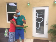 Happy couple with Covid Masks