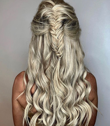 thick braids and waves