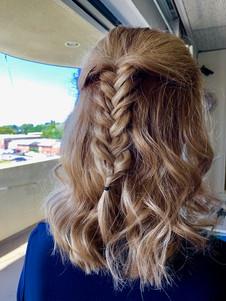 Full highlight with fashion braid