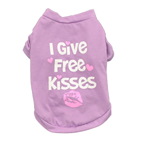 "Playera ""Free Kisses"", color morado"