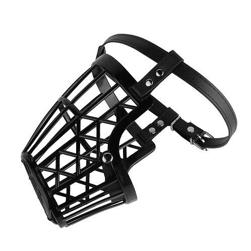 Bozal de canasta de plástico para perros, black