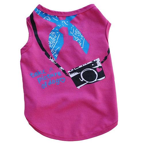 Playera cámara fotográfica,, color rosa