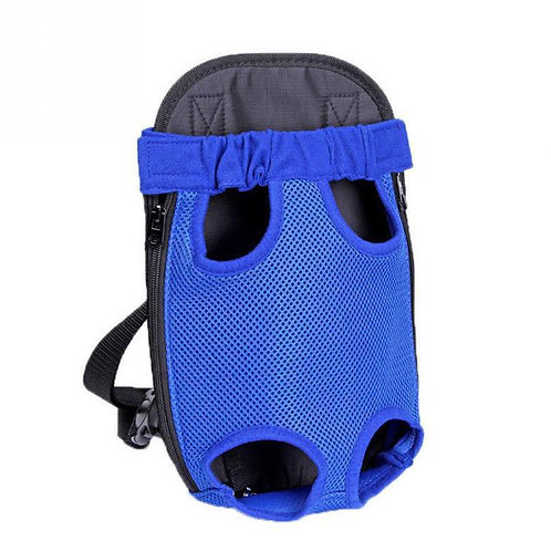 Mochila cangurera azul