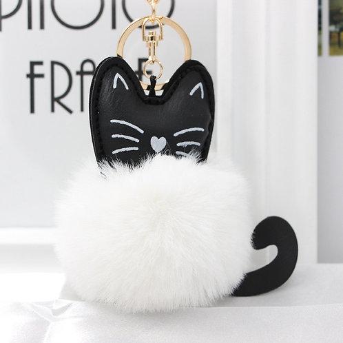 Llavero gatito peluche Fluffy white