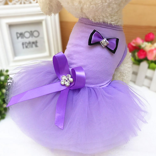 Vestido de fiesta, purple