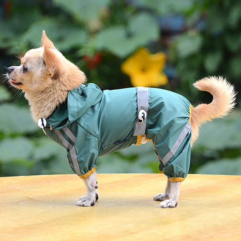 Abrigo impermeable, green