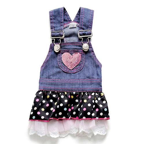 Vestido denim Pink Heart