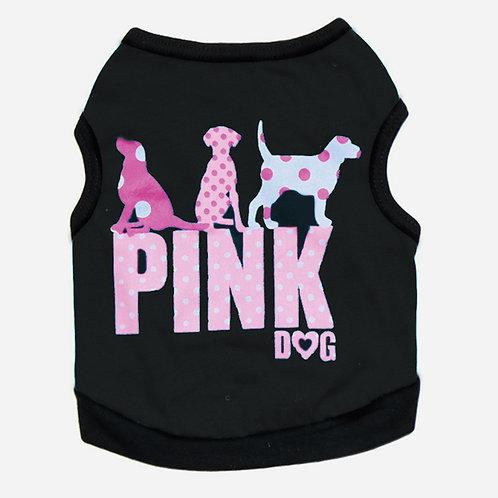 """Playera """"Pink Dog"""" negro"""