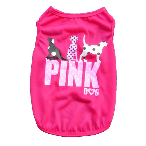 "Playera ""Pink Dog"" rosa fuchsia"