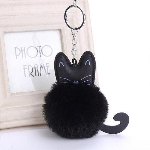 Llavero gatito peluche Fluffy black