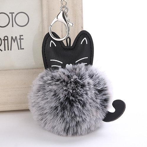 Llavero gatito peluche Fluffy grey