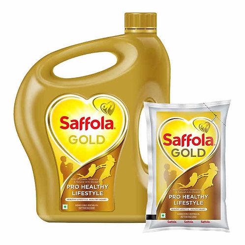 Saffola Gold 5L Jar + 1L Pouch Free