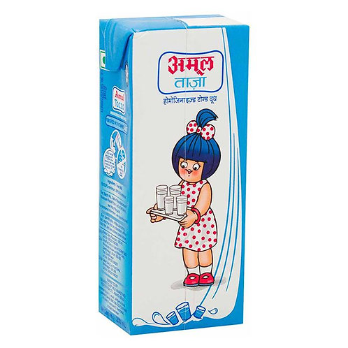 Amul Taaza Toned Milk : 200 ml