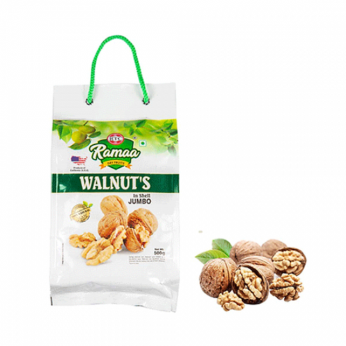 Ramaa Jumbo Walnuts With Shell 500 gms