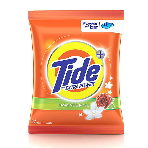Tide Detergent Powder Jasmine & Rose 1Kg + Tide Bar Free