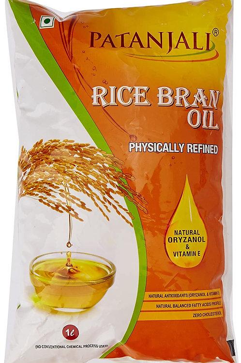 Patanjali Rice Bran Oil Pouch 1L
