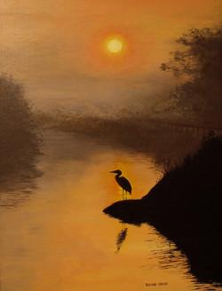 Heron by Water's Edge