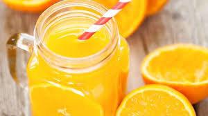 Jus d'orange fraichement pressé