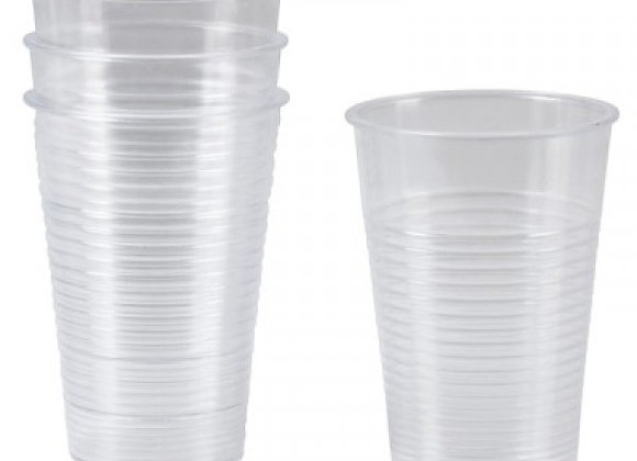 Pack de 10 gobelets cristal transparent