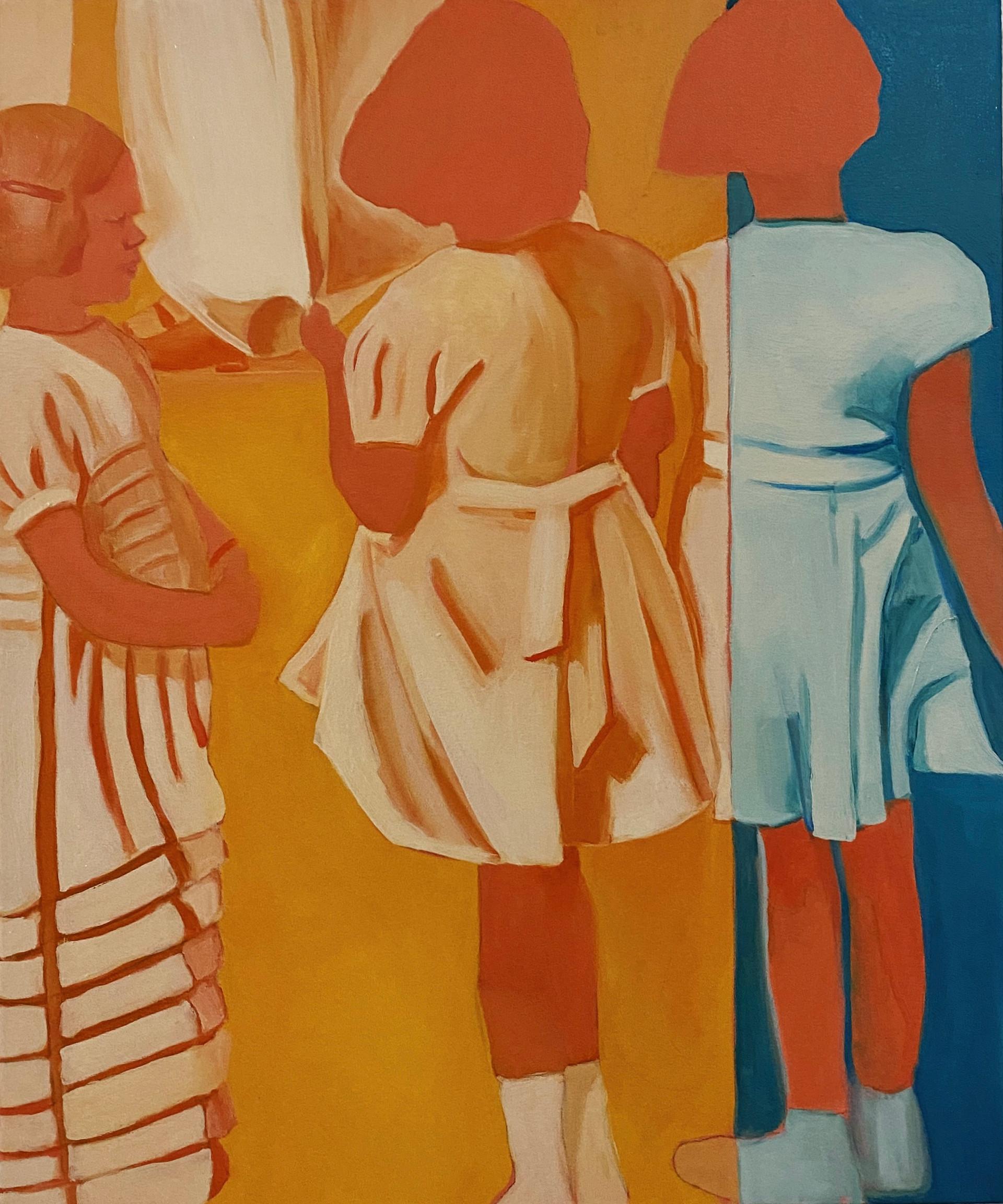 Veil, oil on canvas, 60 x 50 cm