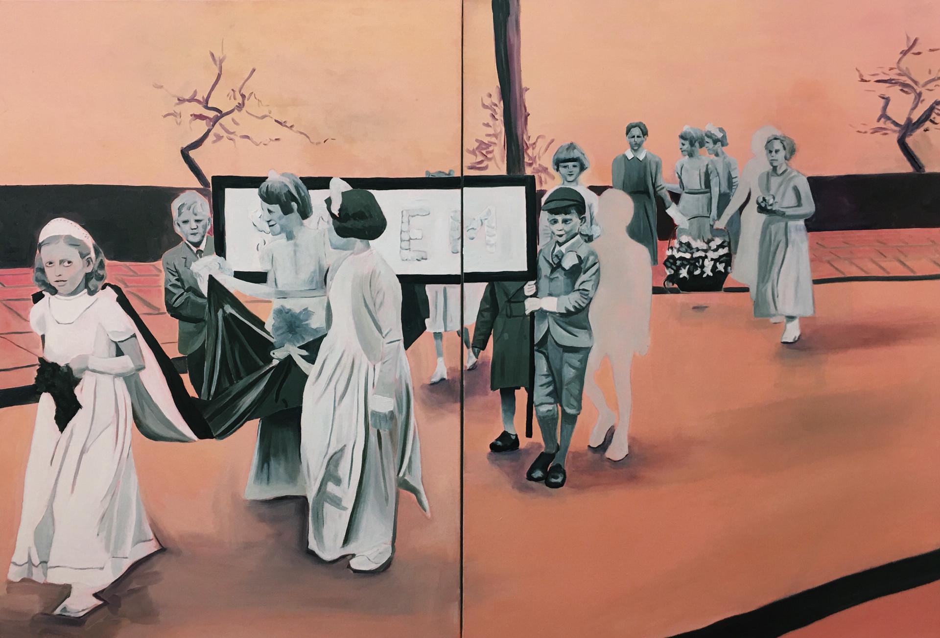 Salem Walk, oil on canvas, 110 x 180 cm