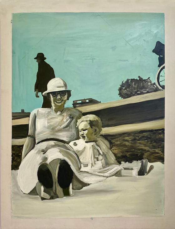 Brenda, oil on canvas, 110 x 90 cm