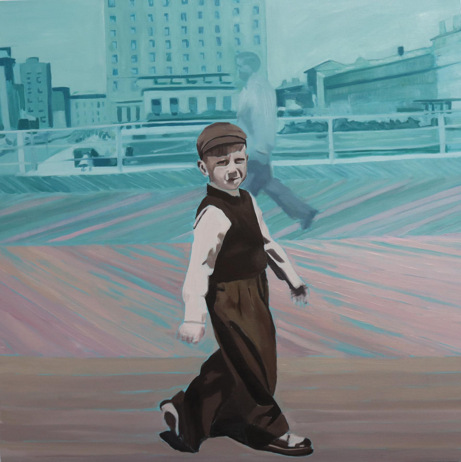 Boulevard, oil on canvas, 90 x 90 cm