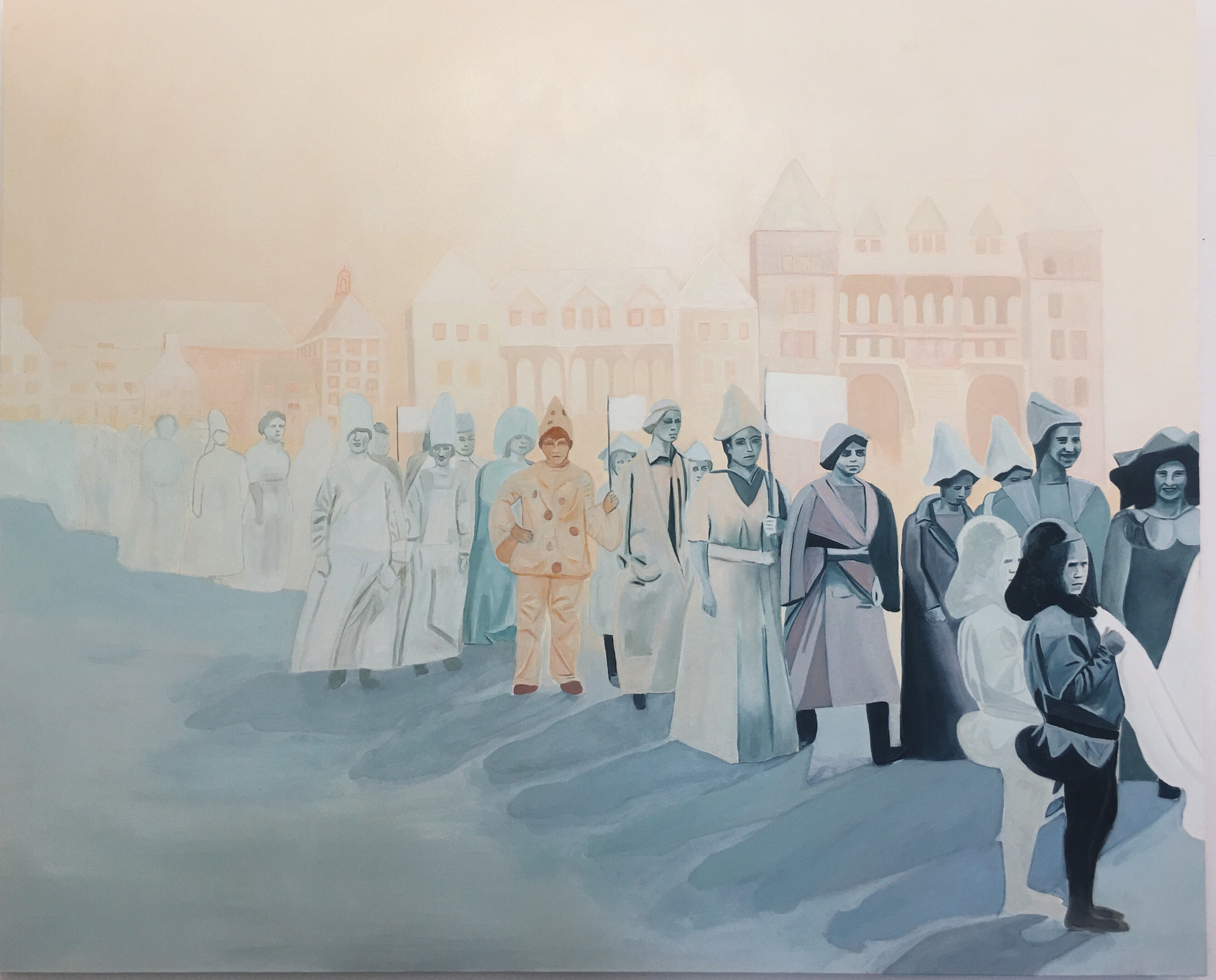 Procession, oil on canvas, 130 x 160 cm