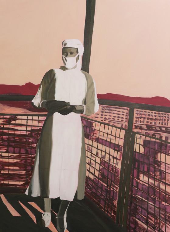Nurse, oil on canvas, 120 x 85 cm