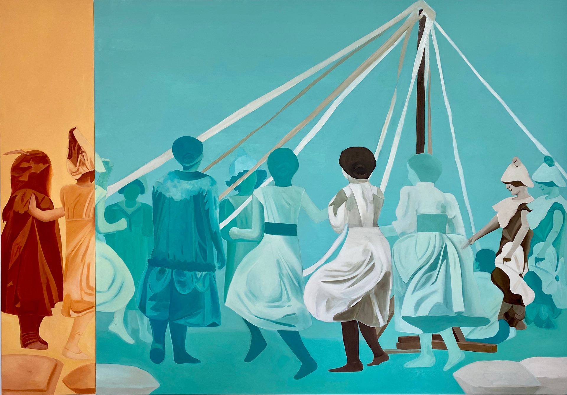 Folk Dance, oil on canvas, 150 x 215 cm