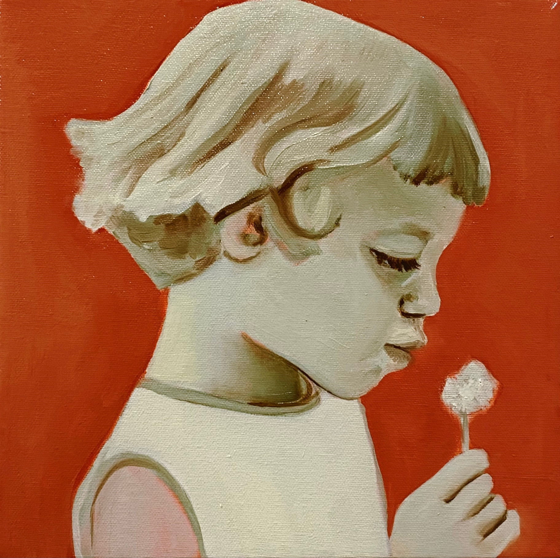 Bittersweeet, oil on canvas, 25 x 25 cm