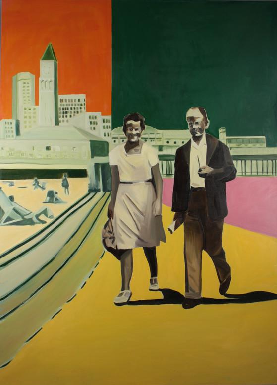 Intrusion, oil on canvas, 180 x 150 cm