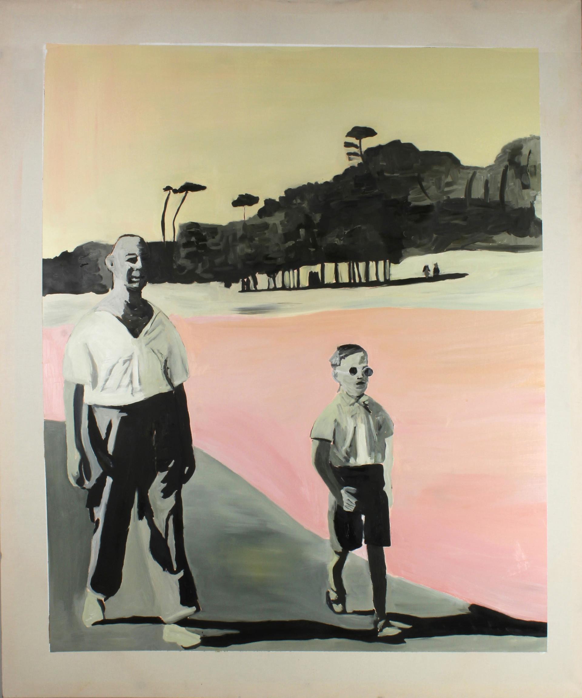 Diplomat, oil on canvas, 180 x 150 cm