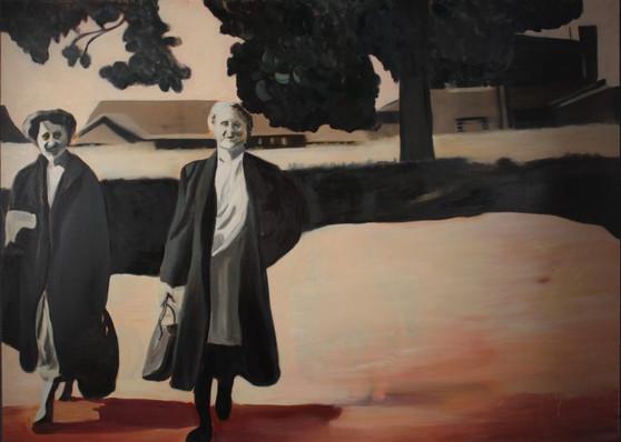 Journey, oil on canvas, 130 x 180 cm