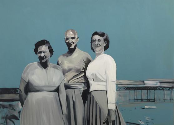 Promenade, oil on canvas, 130 x 180 cm