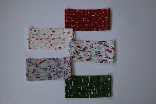Masken mit Weihnachtsmotiven