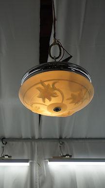Art Deco Flush Mounted Light Fixture Ca 1940s