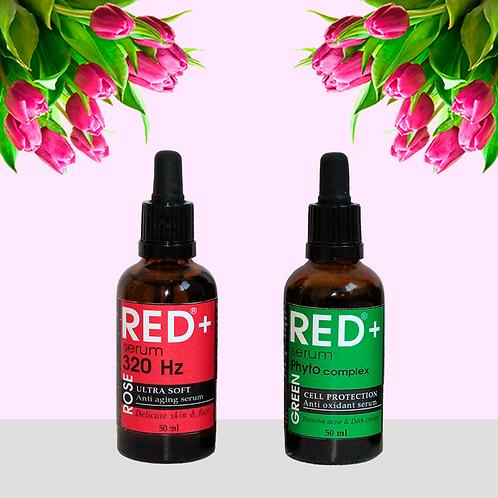 "Набор сыворотки: ""RED+ ROSE"" & ""Phyto Green"""