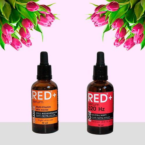 "Набор сыворотки: ""RED+ ROSE"" & ""Orange Multi-Vit"""