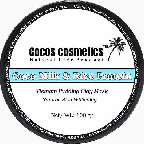 белая глина-глиняная-маска-для-лица-кокосовое-молоко-рисовый-протеин-отбеливающая-cocos-cosmetics