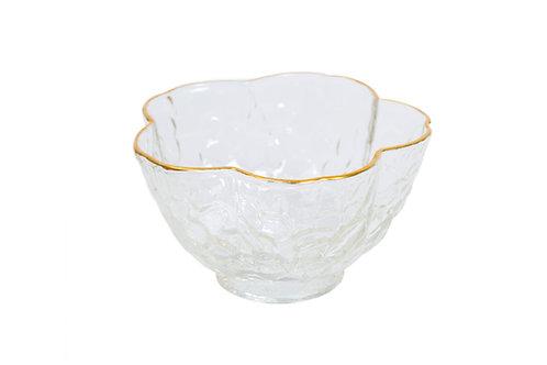 Petal Gold-Rimmed Glass Teacup