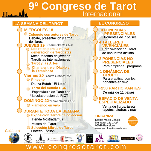 Programa de La semana del Tarot y 9º Congreso de Tarot