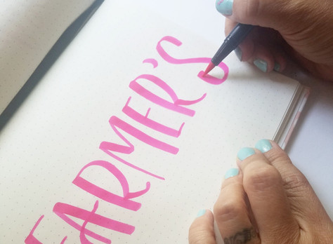 Create a lettering and highlight it